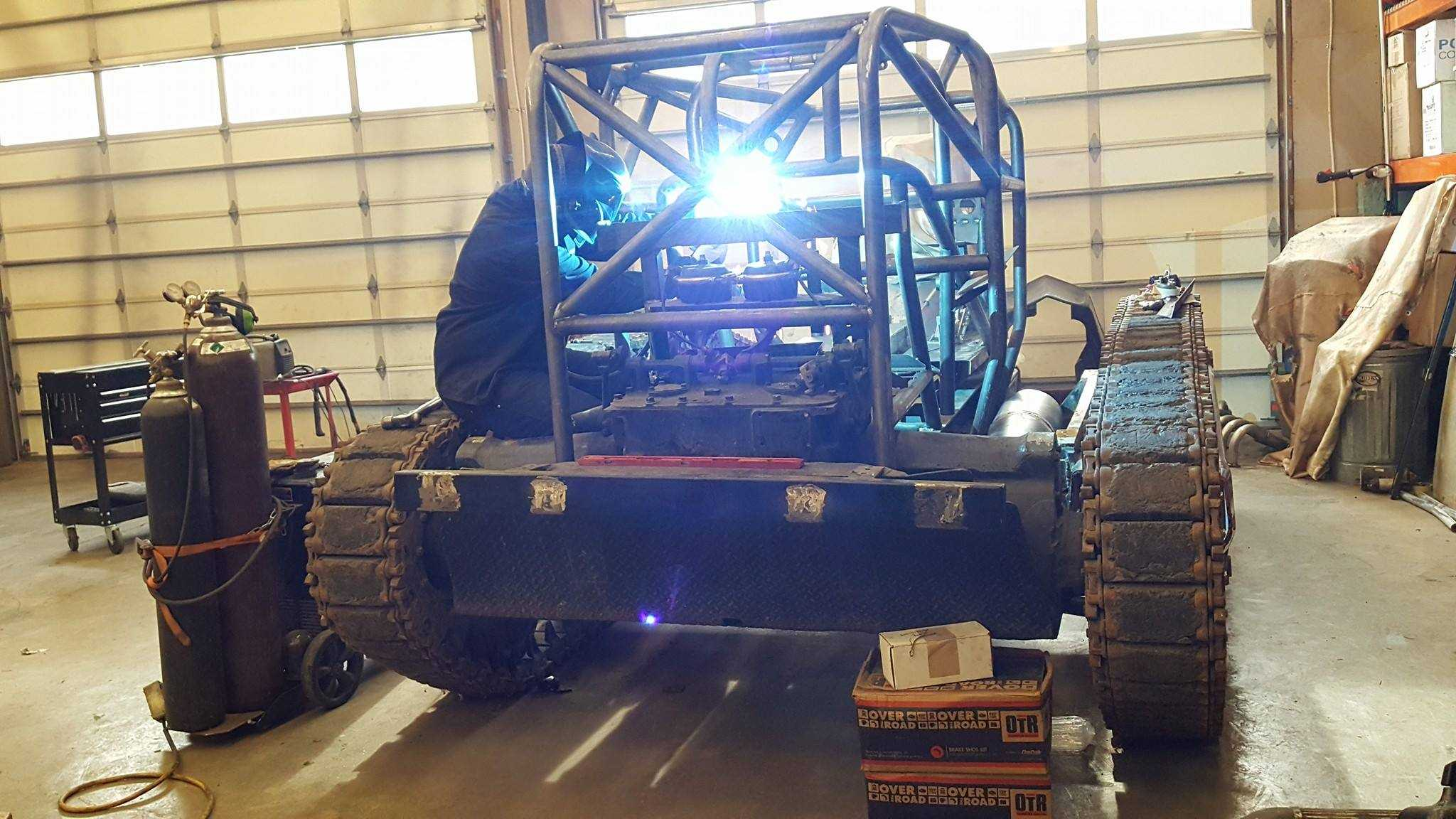 It's a Bird...It's a Plane...It's a Blown-Alcohol Hot Rod on a Tank Chassis!