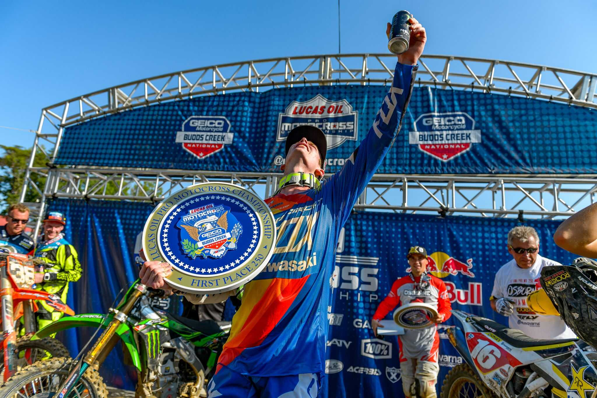 Monster Energy Pro Circuit Kawasaki's Cianciarulo Celebrates First Career Overall Win